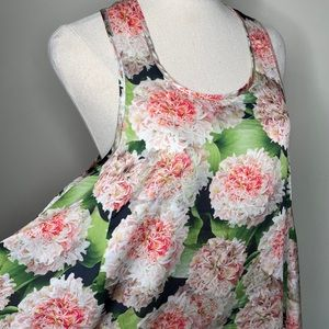 Poppy Lissiman. Floral Tank/Trapeze Dress. Size 6.